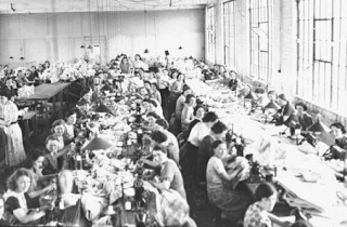 Derry - Factory women producing the famous white shirt