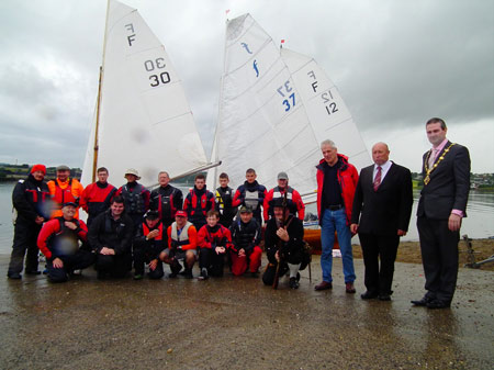 LFYC sailors with Govenor of the Apprentice Boys of Derry and the Mayor of the City