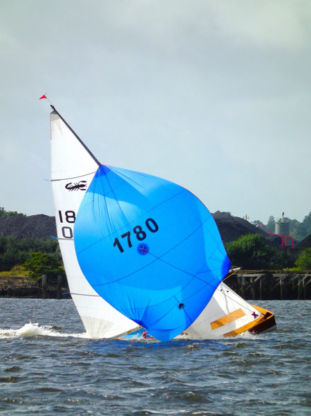 Culmore Regatta 2013: How did teh Doherty's manage to sail through this and not go over